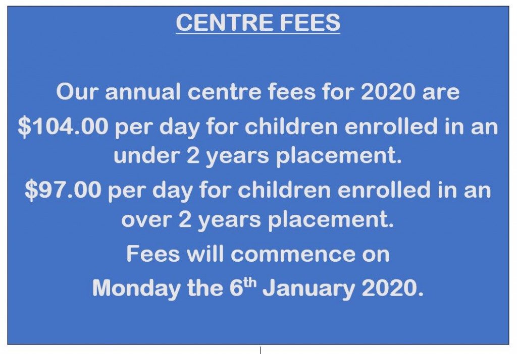 2020 Fees