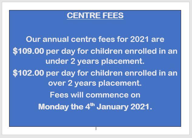 fees update 2021